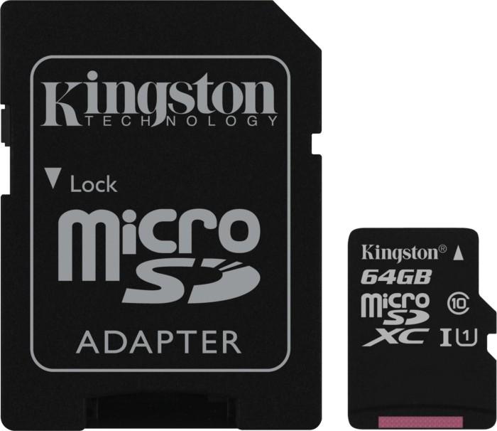 Kingston Canvas Select R80 microSDXC 64GB Kit, UHS-I U1, Class 10 (SDCS/64GB)