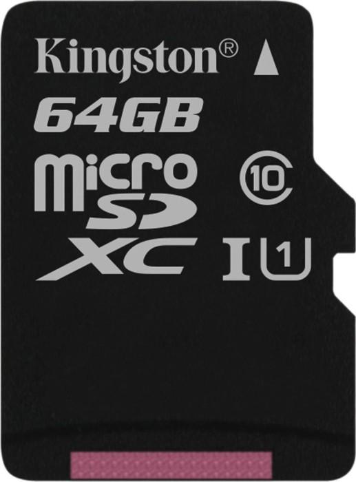 Kingston Canvas Select R80 microSDXC 64GB, UHS-I U1, Class 10 (SDCS/64GBSP)