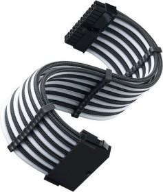 SilverStone PP07E Serie P07E-MBBW, 24-Pin ATX Verlängerungskabel, 300mm, sleeved schwarz/weiß (SST-PP07E-MBBW)