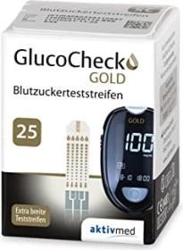 Aktivmed GlucoCheck Gold Blutzucker-Teststreifen, 25 Stück