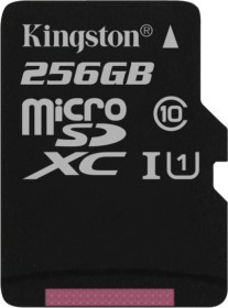 Kingston Canvas Select R80 microSDXC 256GB, UHS-I U1, Class 10 (SDCS/256GBSP)