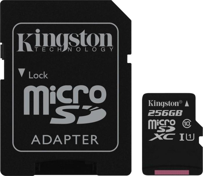 Kingston Canvas Select R80 microSDXC 256GB Kit, UHS-I U1, Class 10 (SDCS/256GB)