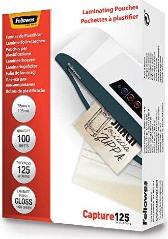 Fellowes Laminierfolie 54x86mm, 2x 125 micron, glänzend, 100 Stück (53063) -- via Amazon Partnerprogramm