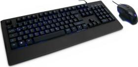 Inter-Tech KC-3001 Gamer Tastatur Maus Set schwarz, USB, DE (88884096)