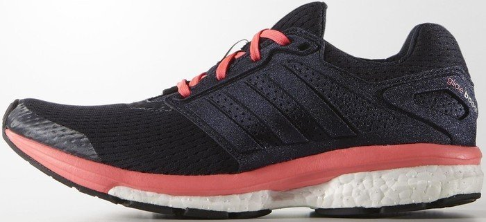 adidas Performance Supernova Glide Boost 7, Damen Laufschuhe, Blau (Night Navy/Silver Met./Flash Red S15), 38 EU (5 Damen UK)