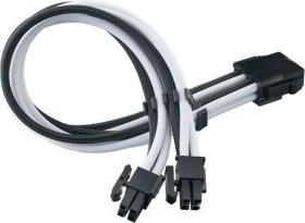 SilverStone PP07E Serie P07E-EPS8BW, 4/8-Pin ATX12V Verlängerungskabel, 300mm, sleeved schwarz/weiß (SST-PP07E-EPS8BW)
