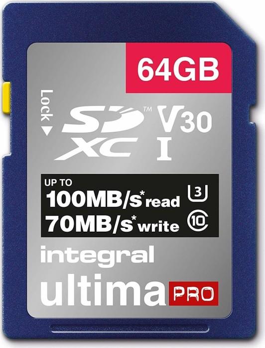 Integral UltimaPro R100/W70 SDXC 64GB, UHS-I U3, Class 10 (INSDX64G-100/70V30)