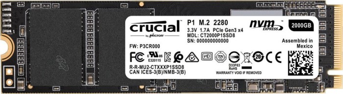 Crucial P1 SSD 2TB, M.2 (CT2000P1SSD8)