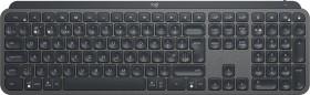 Logitech MX Keys schwarz, USB/Bluetooth, UK (920-009413)