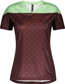 Scott Trail Flow Trikot kurzarm maroon red/mint green (Damen) (275333-6454)