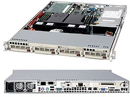 Supermicro 813i+-500 light grey, 1U, 500W