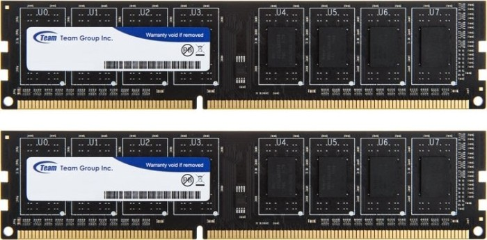 TeamGroup Elite DIMM Kit (ohne HS)    8GB, DDR3-1333, CL9-9-9-24 (TED38192M1333C9) -- © caseking.de