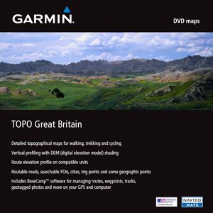 Garmin digital cards on DVD - topographic map Great Britain (English) (PC) (010-10730-00UK)
