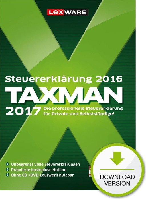 Lexware: Taxman 2017, ESD (German) (PC) -- via Amazon Partnerprogramm