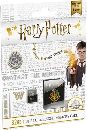 Emtec Harry Potter R85/W20 microSDHC 32GB Kit, UHS-I U1, Class 10, Hogwarts (ECMSDM32GHC10HP05)