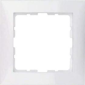 Berker S.1 Rahmen 1fach, polarweiß glänzend (10118989)