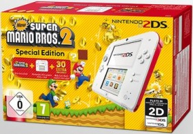 Nintendo 2DS New Super Mario Bros. 2 Special Edition Bundle weiß/rot