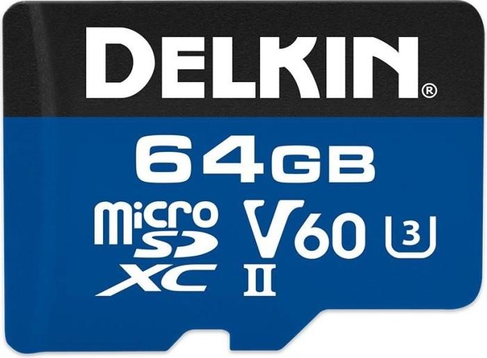 Delkin Prime 1900X R285/W100 microSDXC 64GB Kit, UHS-II U3, Class 10 (DMSD190064GV)