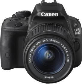 Canon EOS 100D schwarz mit Objektiv EF-S 18-55mm 3.5-5.6 IS STM und EF 40mm 2.8 STM (8576B051)