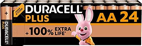 Duracell Plus Mignon AA, 24er-Pack (DUR087033) -- via Amazon Partnerprogramm