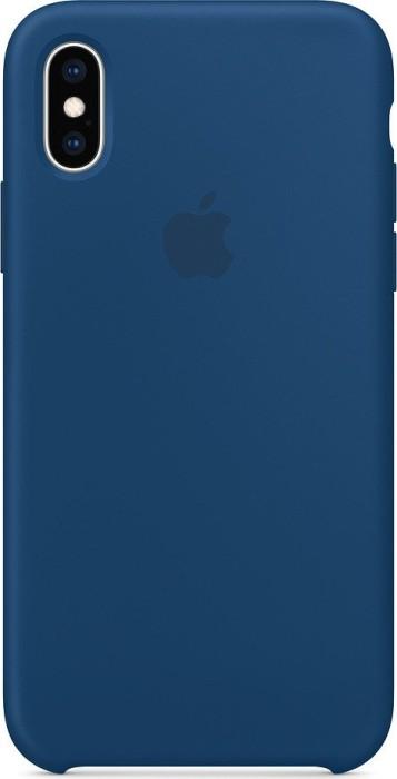 Apple Silikon Case für iPhone XS horizontblau (MTF92ZM/A)
