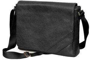 "Cool Bananas OldSchool Class1 15.4"" leather messenger bag black (9042221)"