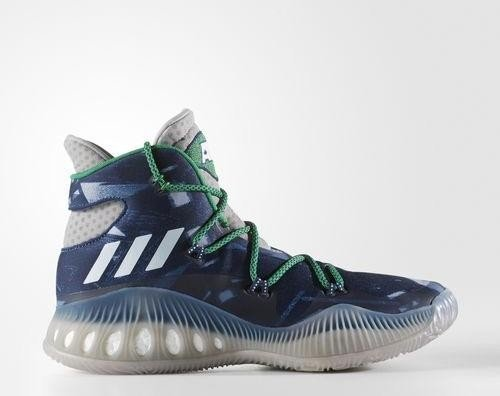 adidas Crazy Explosive medium grey heather solid grey footwear  white mystery blue (Herren 0a6b076d5b