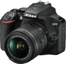 Nikon D3500 schwarz mit Objektiv AF-P DX 18-55mm 3.5-5.6G, Tasche und Speicherkarte (VBA550K008)