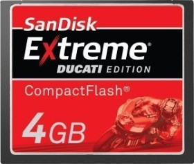 SanDisk CompactFlash Card [CF] Extreme IV Ducati Edition 4GB (SDCFX4-004G-ED1)