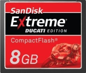 SanDisk CompactFlash Card [CF] Extreme IV Ducati Edition 8GB (SDCFX4-008G-ED1)