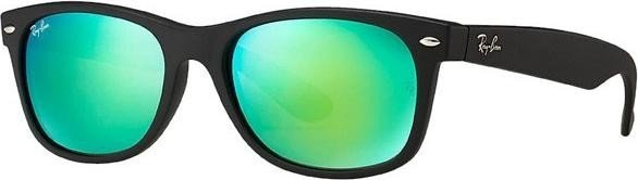 Ray-Ban RB2132 New Wayfarer Flash 55mm black green (622 19 ... cf7ec269c7df