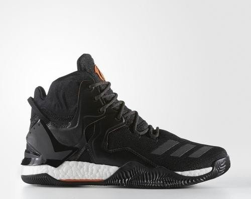 adidas D Rose 7 Primeknit core black orange solid utility black (men ... 54177a2b1