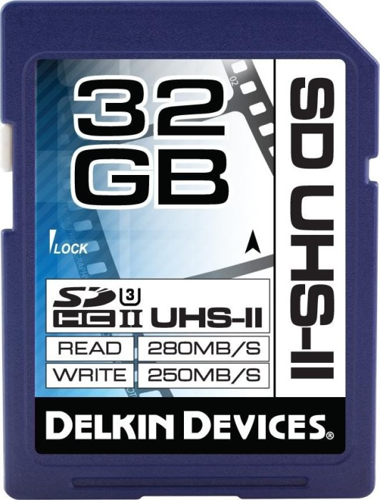 Delkin Cinema SDHC 32GB, UHS-II U3/Class 10 (DDSDUHS232GB)