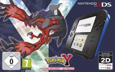 Nintendo 2DS Pokémon Y Bundle schwarz/blau