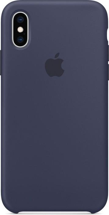 Apple Silikon Case für iPhone XS mitternachtsblau (MRW92ZM/A)