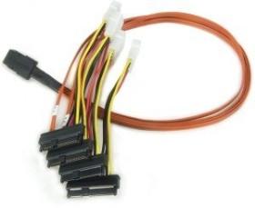 LSI 3ware mini SAS x4 [SFF-8087] to 4x SAS [SFF-8087] cable, 0.6m (CBL-SAS8087OCF-06M)