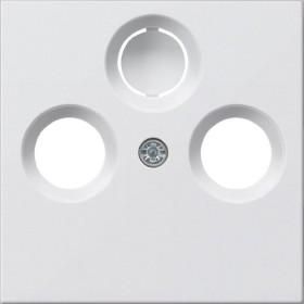 Gira System 55 Abdeckung für Koaxial-Antennensteckdose, reinweiß seidenmatt (0869 27)