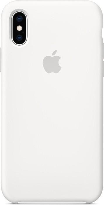 Apple Silikon Case für iPhone XS weiß (MRW82ZM/A)