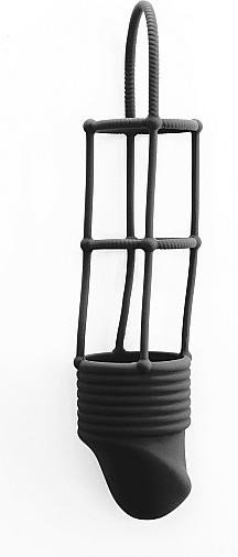 Shots Toys Ribbed Cage black