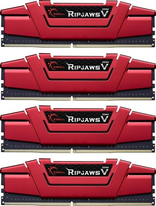 G.Skill RipJaws V red DIMM kit 64GB, DDR4-2133, CL15-15-15-36 (F4-2133C15Q-64GVR)
