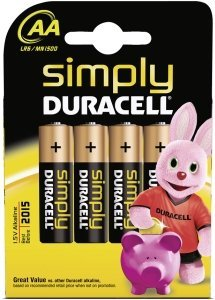 Duracell Simply Mignon AA, 4er-Pack