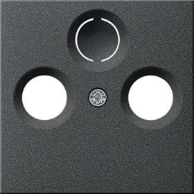 Gira System 55 Abdeckung für Koaxial-Antennensteckdose, anthrazit (0869 28)