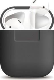 Elago Silikonhülle kompatibel mit Apple AirPods dunkelgrau (EAPSC-DGY)