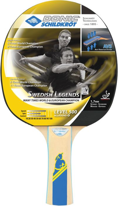 Donic Schildkröt table tennis bats Swedish Legends 500