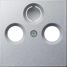 Gira System 55 Abdeckung für Koaxial-Antennensteckdose, alu (0869 26)