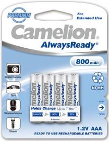 Camelion AlwaysReady Micro AAA NiMH 800mAh, 4-pack (NH-AAA800ARBP4)