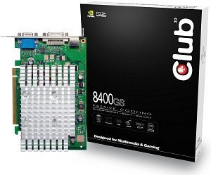 Club 3D GeForce 8400 GS, 512MB DDR2, VGA, DVI, TV-out (CGNX-GS842)