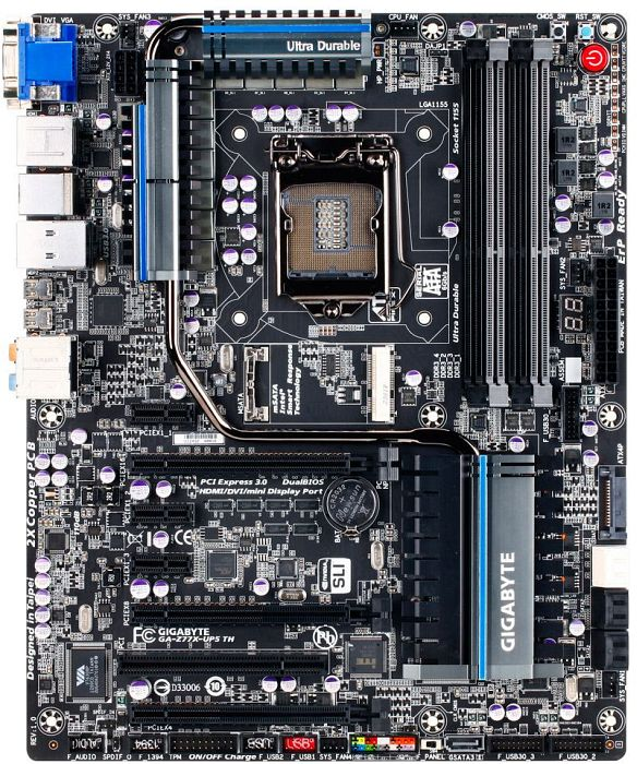 Gigabyte GA-Z77X-UP5 TH, Z77 (dual PC3-12800U DDR3)