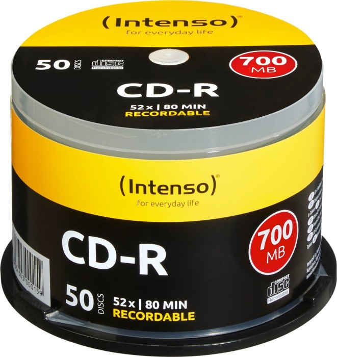 Intenso CD-R 80min/700MB 52x, 50-pack Spindle (1001125)
