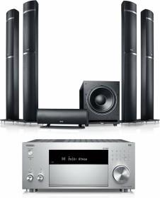 """Teufel LT 5 AVR für Dolby Atmos """"5.1.4 -Set"""" schwar/silber"""
